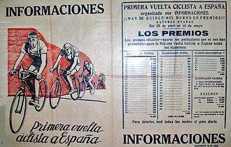 Vuelta a España - The daily Informaciones with information about the Vuelta a España first edition