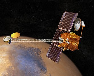 Remote sensing - The 2001 Mars Odyssey used spectrometers and imagers to hunt for evidence of past or present water and volcanic activity on Mars.