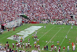 2003 Alabama Crimson Tide football team - Alabama one play prior to their fourth-quarter touchdown run by Shaud Williams.