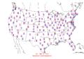 2006-03-11 Max-min Temperature Map NOAA.png