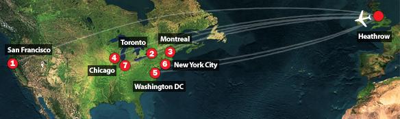 2006 Transatlantic plot flights
