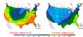 2008-04-12 Color Max-min Temperature Map NOAA.png