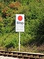 2009 at Maiden Newton station - token sign.jpg
