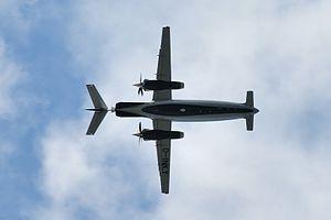 Three-surface aircraft - A Piaggio P180 Avanti showing its three lifting surfaces