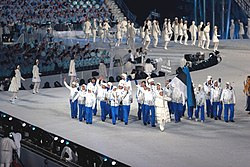 2010 Opening Ceremony - Estonia entering