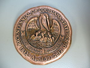 Coleman Adler - 2012 Louisiana Bicentennial Coin, designed and manufactured by Adler's in New Orleans