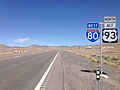 2014-06-11 10 24 15 First reassurance sign for Alternate U.S. Route 93 along westbound Interstate 80 in West Wendover, Nevada.JPG