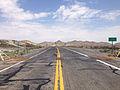 2014-07-17 12 27 36 View north along U.S. Route 95 at the border between Esmeralda County and Nye County in Tonopah, Nevada.JPG