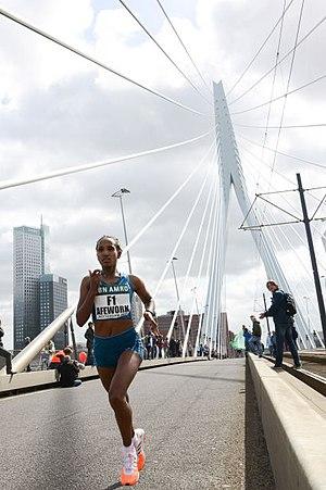 Abebech Afework - During Rotterdam Marathon in 2014