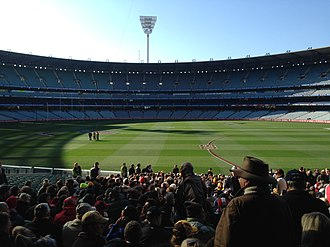 2014 AFL Grand Final - Image: 2014 AFL Grand Final pre game