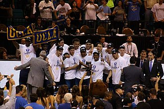 Pac-12 Conference Men's Basketball Tournament - UCLA celebrating 2014 tournament championship