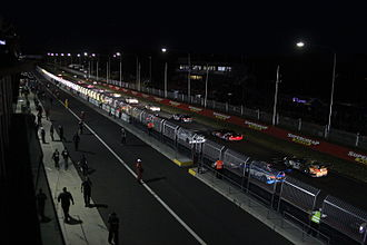 Bathurst 12 Hour - Cars on the grid prior to the start of the 2015 race.
