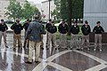 2015 Law Enforcement Explorers Conference standing at attention soaked by rain.jpg