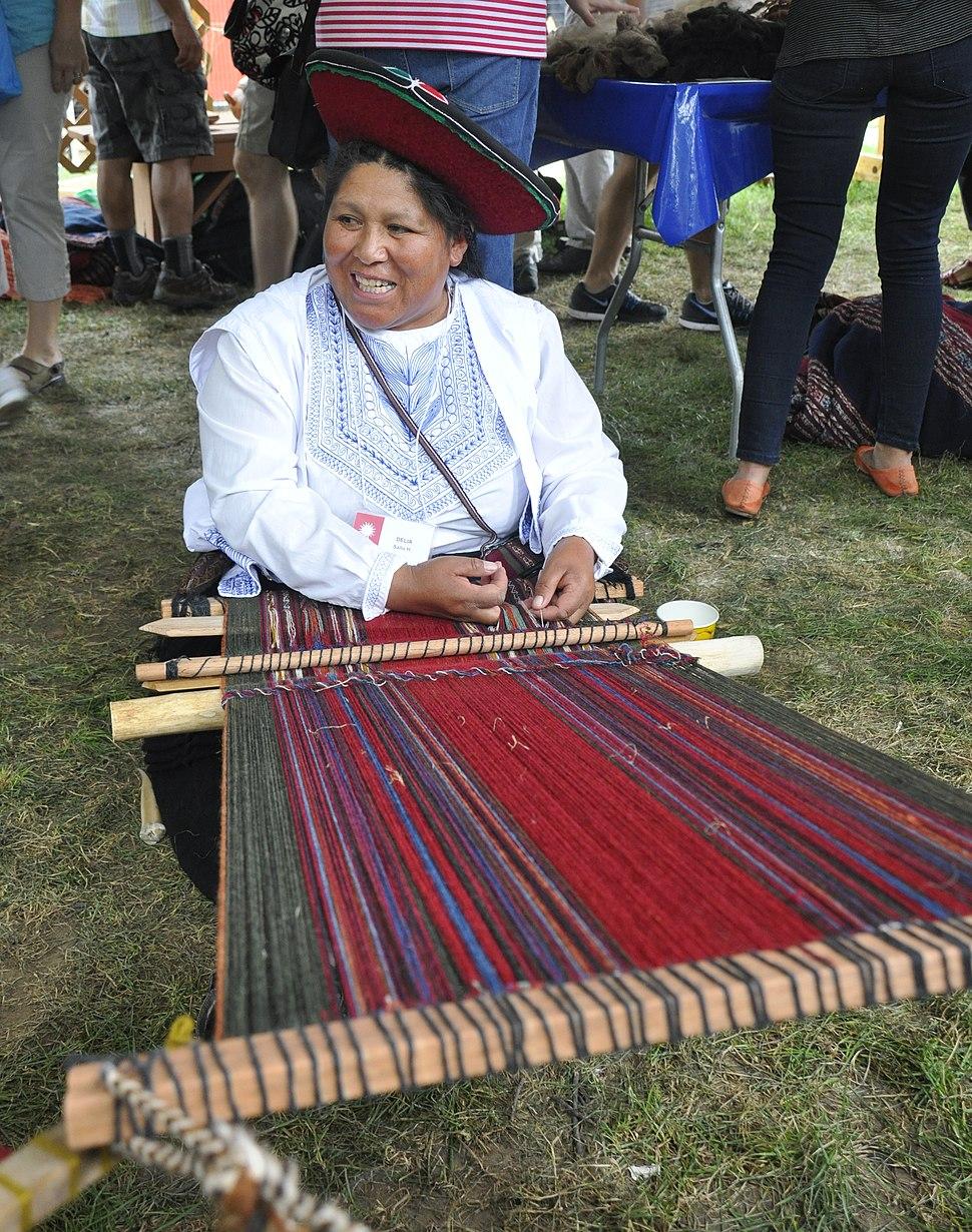 2015 Smithsonian folklife festival DC - Cusco Weavers - 10