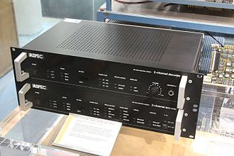MPEG-1 - ASPEC 91 in the Deutsches Museum Bonn, with encoder (below) and decoder