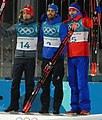 2018 PyeongChang Biathlon Mass Start medalists (cropped).jpg