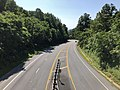 2019-08-09 10 45 15 View east along U.S. Route 33 (Spotswood Trail) from the overpass for Virginia State Route 48 (Skyline Drive) at Swift Run Gap within Shenandoah National Park in Greene County, Virginia.jpg