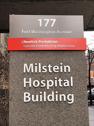 Seymour Milstein - Image: 2019 MHB sign at NYPCUMC