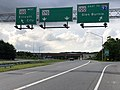 2020-06-20 17 53 15 View north along Maryland State Route 170 (Telegraph Road) at the interchange with Maryland State Route 100 (TO Interstate 97, Glen Burnie, Ellicott City) in Severn, Anne Arundel County, Maryland.jpg
