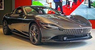 Ferrari Roma Grand touring sports car designed and manufactured by Ferrari