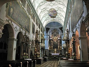 Great Mass in C minor, K. 427 - Interior of St Peter's Abbey, Salzburg, where the mass was first performed