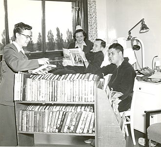 United States Army's Family and MWR Programs - A 1951 image from Hospital Library Ward Service. U.S. Army Photo.