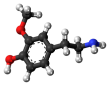 3-Methoxytyramine 3D ball.png