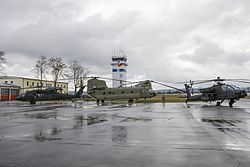 3218369 10th Combat Aviation Brigade aircraft are staged outside at the Illesheim Army Airbase, Germany.jpg