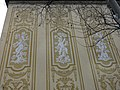 338 Grup escolar Ramon Llull, esgrafiats, façana av. Diagonal.JPG