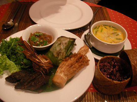 An example of Lao cuisine 3 Nagas Feast.jpg