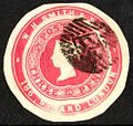 3 pence W.H. Smith advertising ring impressed stamp.jpg