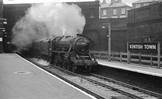 LMS Stanier Class 5 4-6-0 - A named LMS Black 5 No. 45154 Lanarckshire Yeomanry in 1960.