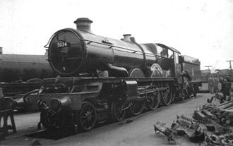 History of rail transport in Great Britain 1923–1947 - 5034 Corfe Castle fresh from the Swindon works