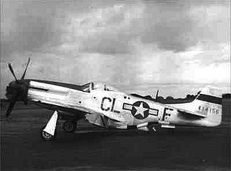 RAF Wormingford - North American P-51D-10-NA Mustang Serial 44-14156 of the 338th Fighter Squadron.