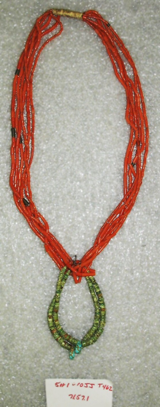 6-Strand Necklace, Navajo (Native American), ca. 1920s, 71.57.1