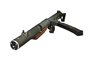 Sterling submachine gun - An example of the L34A1 suppressed variant