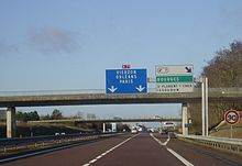Exit 7 towards Paris in December 2009.