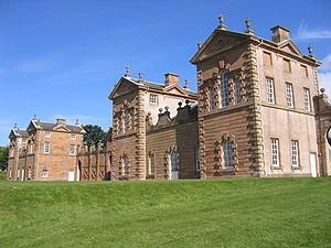 Hunting and shooting in the United Kingdom - Chatelherault, built by William Adam in 1743 as the Duke of Hamilton's hunting lodge.