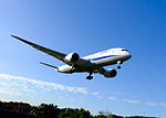 ANA Boeing 787-881 JA874A on Final Approaching at Taipei Songshan Airport 20151222a.jpg