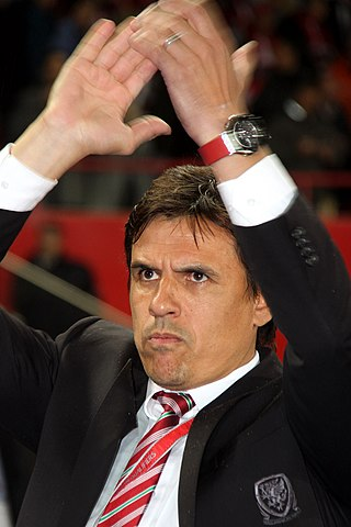 Chris Coleman at Austria v Wales, 6 October 2016  Photographer: Benutzer Steindy