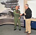 AWS1 Anthony Michalski with Vice Admiral David Architzel.jpg