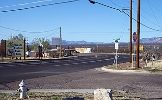 Cochise County, Arizona - State Route 80 seen towards north in Tombstone