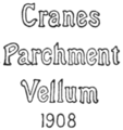 A Desk Book on the Etiquette of Social Stationery - Crane's Parchment Vellum Watermark.png