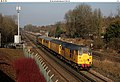 A Network Rail test train takes the Redhill avoiding line at Smitham, north of Coulsdon. - panoramio.jpg