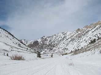 Lamoille Canyon - Image: A Snowy Lamoille Canyon
