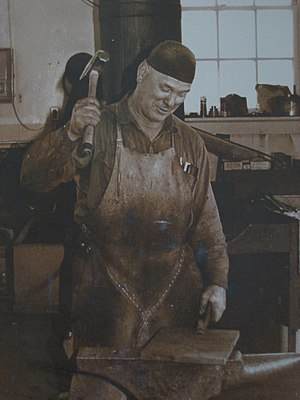 Blacksmith - Canadian blacksmith in the 1970s