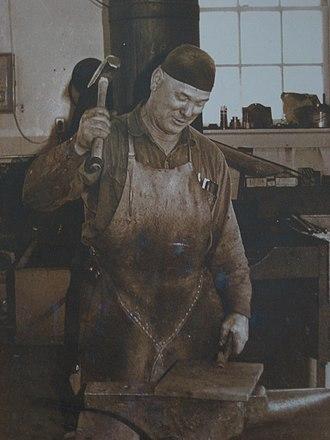 Blacksmith - Canadian blacksmith in the 1970s