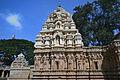 A closer view of the sikhara over shrine in Someshwara Temple at Kolar.jpg