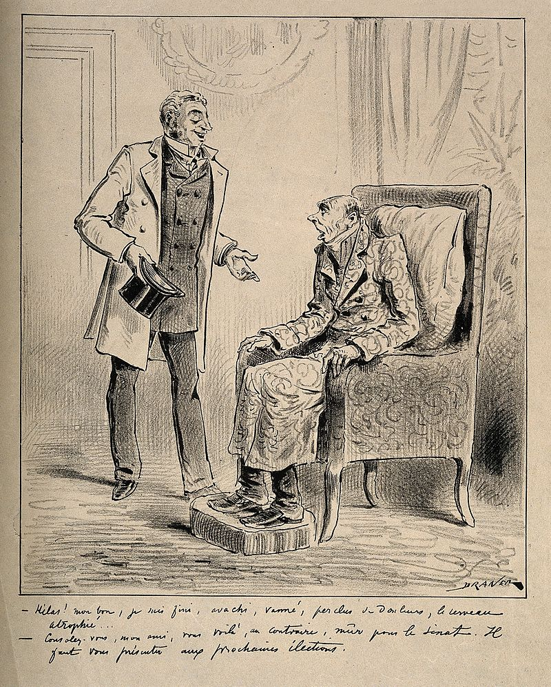 A decrepit old man is told by his friend that he is ripe for Wellcome V0011819.jpg