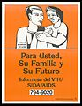 A man and wife with their baby with a message in Spanish to Wellcome L0052635.jpg